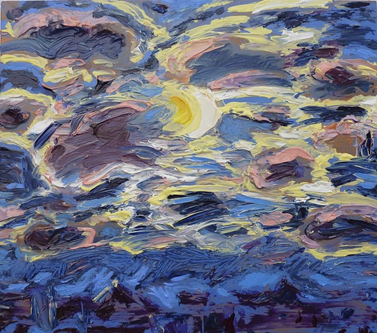 painterly abstract landscape hartley marin dove clouds sky moon