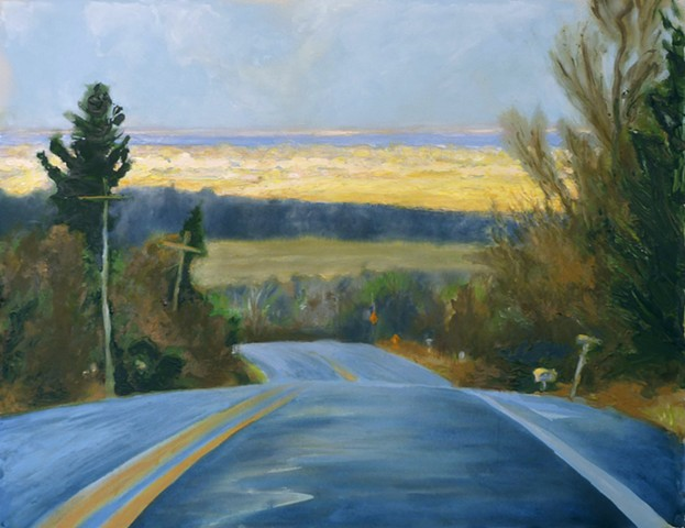 painterly abstract landscape hartley marin dove New York sweet road