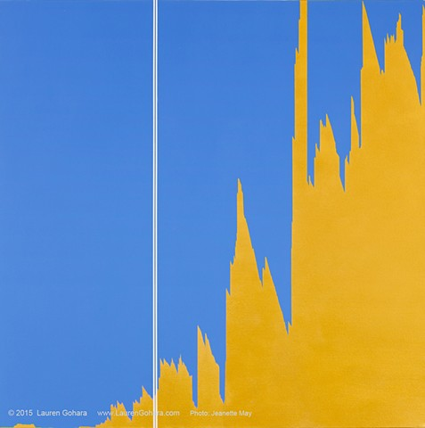painting, found graphics, abstraction, Clyfford Still, investment banking