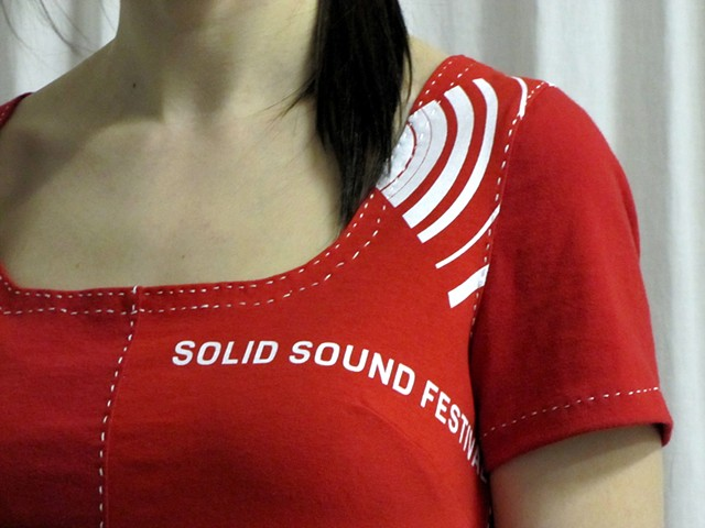 solid sound festival t-shirt dress