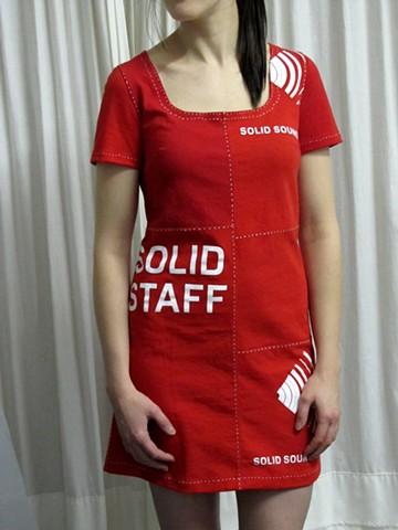 solid sound festival t-shirt dress