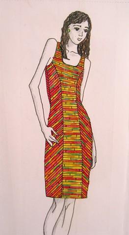 solid sound festival wristband dress