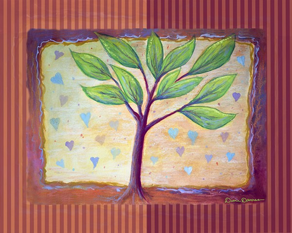 inspirational painting by Diane Daversa, inspirational art, tree of life painting by Diane Daversa