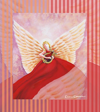 inspirational painting by Diane Daversa, inspirational art by diane daversa, angel painting by Diane Daversa