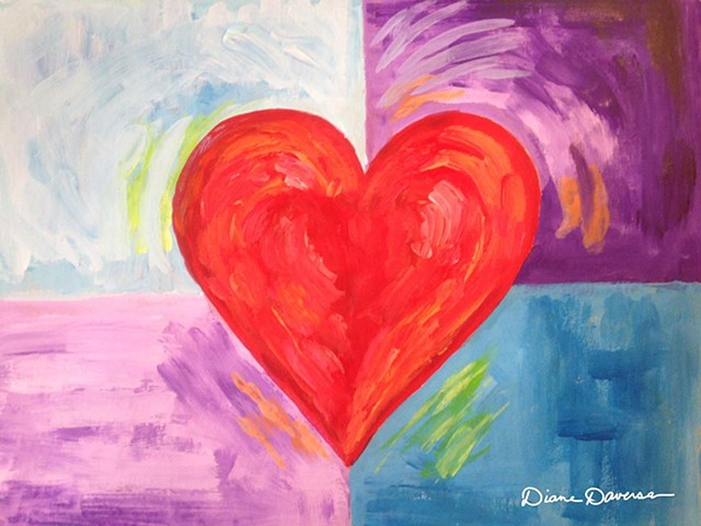 heart art, heart painting by Diane Daversa