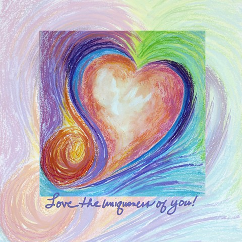 heart art, heart painting, inspirational art by diane daversa, heart painting by Diane Daversa, Quotes and sayings art