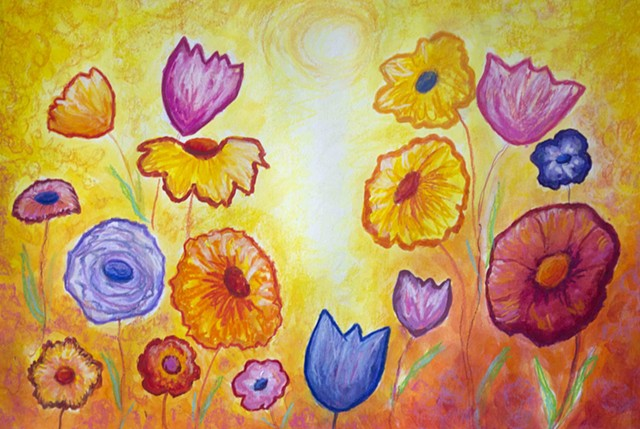 floral art, inspirational art, Diane Daversa art, Floral Painting by Diane Daversa, flower art