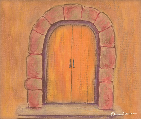 inspirational art, art for licensing, orange door painting by Diane Daversa, Quotes, sayings