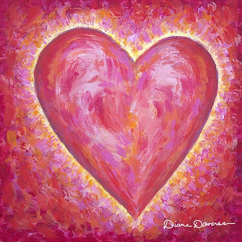 love art, inspirational art, art for licensing, heart painting by Diane Daversa, Quotes, sayings