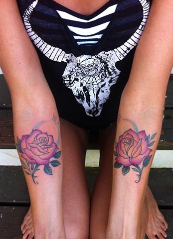 rose tattoo by Sadie Kennedy, Rose Golds Tattoo, San Francisco