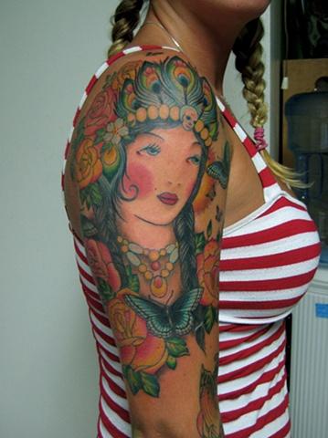 Custom tattoo design by tattoo artist Sadie Kennedy, Sweet Trade Tattoo, Lahaina, Maui.  Best tattoo shop in Maui!