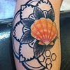 sunrise shell design based on client's drawing