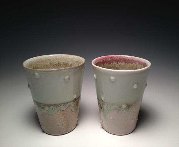 Soda Fired Spot Cups