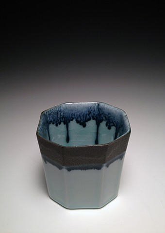 Black and Blue Octa-oval Cup
