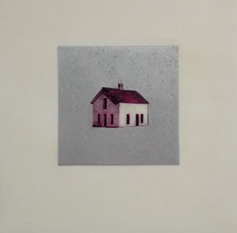untitled (house in silver square)