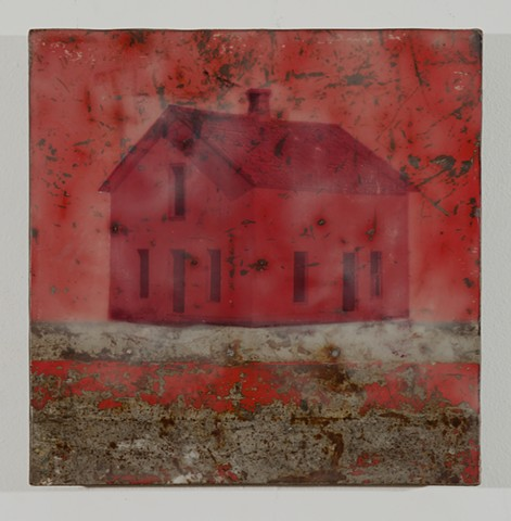 encaustic collaboration with Mark Cesark