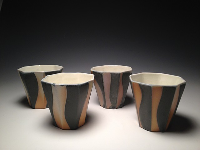 Soda Fired Octagon Wine Cups