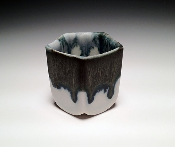 Black and Blue Drip Shot / Sake Cup