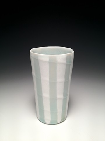 Blue and White Swirl Stripe Tumbler