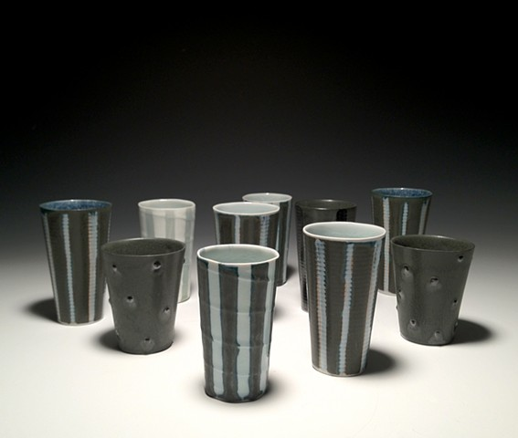 Black and Blue Tumblers