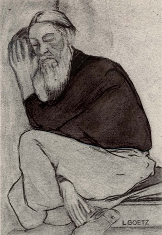 cLauraGoetz illustration of a homeless man.