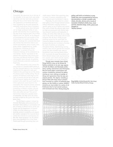 Sculpture Magazine, Thomas Connors- 1995