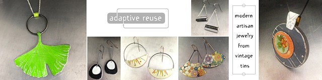adaptive reuse -- upcycled jewelry from sustainably harvested tins