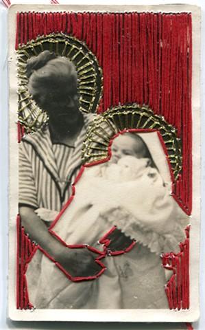 Sewn Piece No. 6 (Madonna and Child)