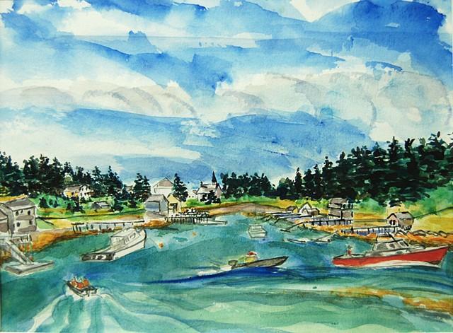 The Harbor at Frenchboro, Long Island, Maine