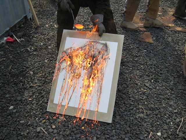 Drawing with fire!