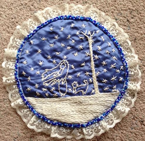 Based on the Fairytale Snow Child, Surreal Folk Art