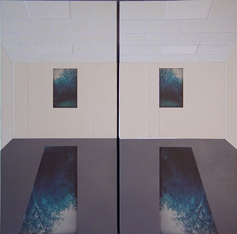 LHSB Classroom 1.602, Diptych #1 (Camera Obscura View)
