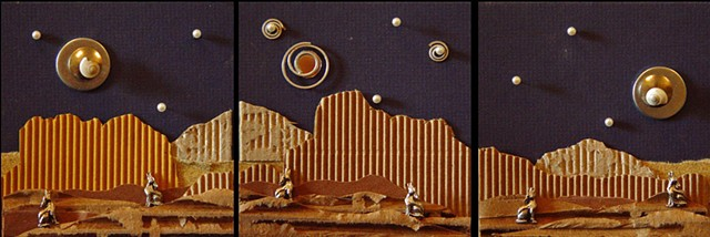 Desert Coyotes Triptych #1