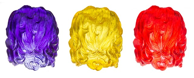 American Hair, Purple,Yellow, Red (back veiw)