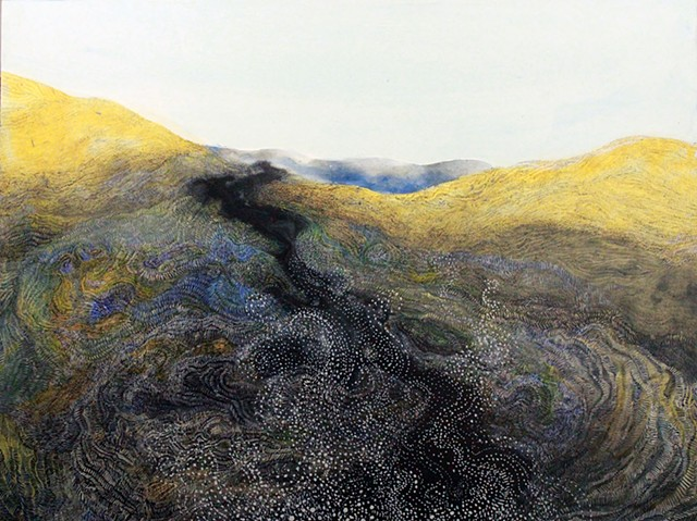 Black lava river landscape by Donna Backues