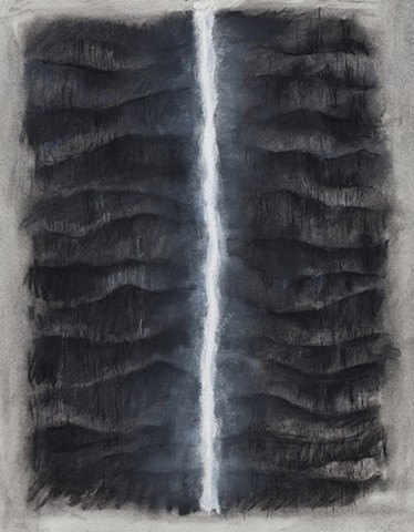 Donna Backues' charcoal drawing