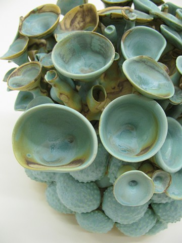 Ceramic sculpture, referencing Acetabularia, which is a type of algae often referred to as a mermaid's wine glass.