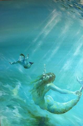 Mermaids, magic,underwater,swimming, hand underwater, people underwater, baby mermaid,two mermaids,last dance,underwater dance, mother and daughter,magicmermaid,fish,fantasymermaid
