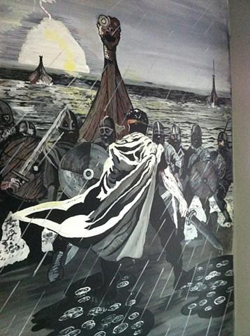 Brian Boru, Wall murals, Kore Gym, Queens, Brian New york, Battle of Clontarf, Murchadh
