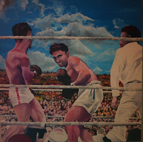 The first million dollar gate and the late great Jack Dempsey ,Artist Warren Faye