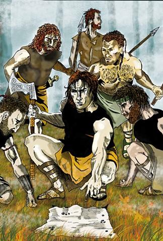 Dalcassian Guerrillas, Brian Boru , Artist Warren Faye,Irish,warriors,celtic,ireland,forests