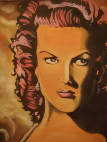 Maureen O'Hara Iconic Walk Temple Bar - Artist Warren Faye