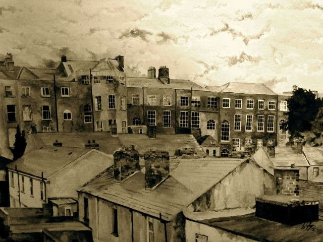 Berkley Road,  Eccles Street. Dublin, Ireland,old dublin,inner,city dublin