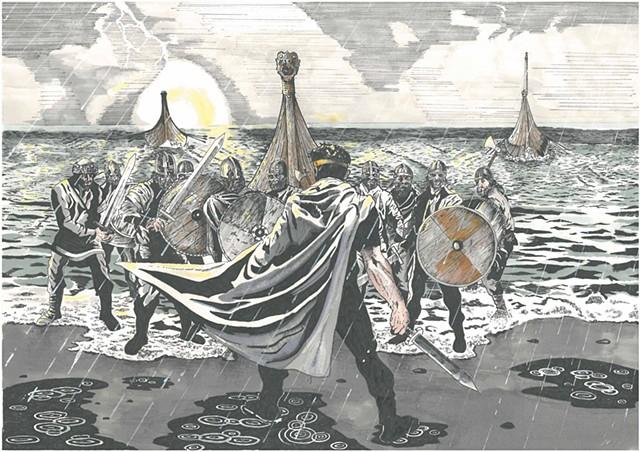 Murchadh - The Brian Boru Collection,brian borus son,warrior,vikings,battleof clontarf,sea,viking ships,Knarrs