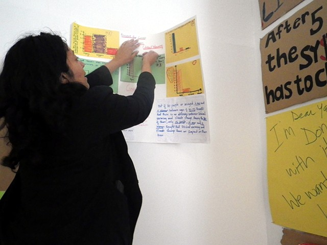 PERCENT FOR GREEN workshop on art and activism with the Bronx Civic Scholars Institute