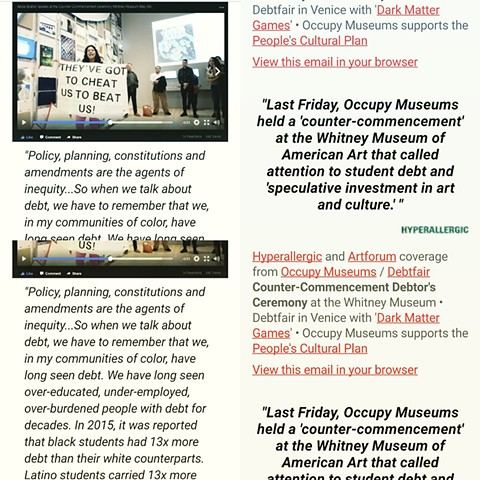 "Occupy Museums Staged an Unofficial ""Graduation"" at the Whitney"