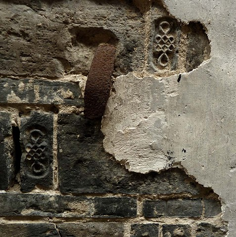 Wall with Hand and Glyphs - China