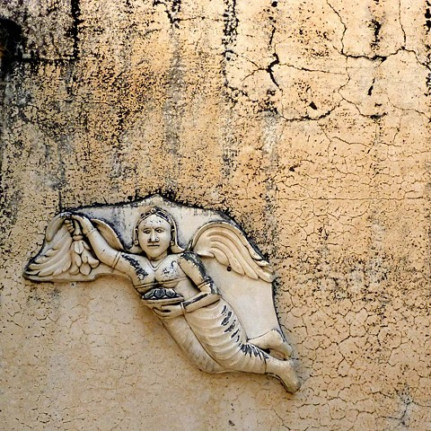 Wall with Apsara - Rajasthan, India
