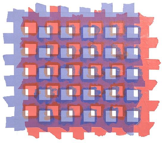 """Additive Study #6  Inkjet on Archival Paper  20"""" x 20"""""""
