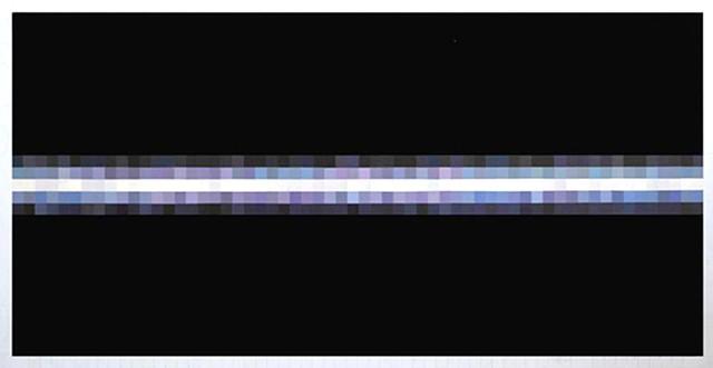 "Venus 3200% (June 16, 2014, 2:23-2:31am) Oil on Linen 140"" x 70"""
